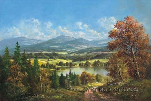 Large Wall Art Decorating Ideas Online Painting Romantic Landscape Painting