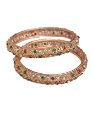 Ratnakar Antique Gold Bangle For Women (Size : 2.8)