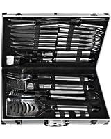 El Fuego AY0333 Kit de 24 ustensiles à barbecue avec mallette en aluminium