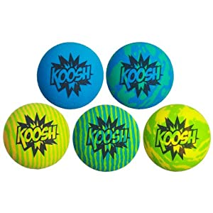 Koosh Ball Refill 5 Pack, Blue/Green