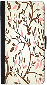 Snoogg Vector Seamless Pattern With Spring Branches Graphic Snap On Hard Back...