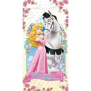 serviette sortie drap de bain princesse disney cheval plage piscine enfant fille 70 cm x 140 cm. Black Bedroom Furniture Sets. Home Design Ideas