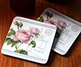 Set of 6 Royal Botanic Gardens, Kew Redoute Classic Felt Back Coasters