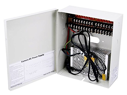 Monoprice 16 Channel CCTV Camera Power Supply – 12VDC – 10Amps image