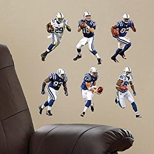 Fathead Indianapolis Colts Team Set Tradeables Wall Graphics by Fathead