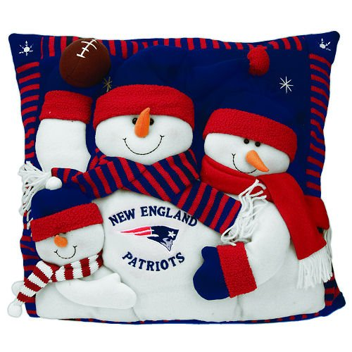 New England Patriots Snowman Pillow