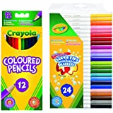 Crayola Bundles 12-Pencils and 24-Markers Pack