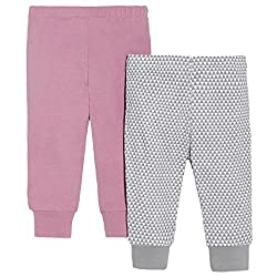 SkipHop Baby-Girls Newborn Petite Triangles Pants, Pink, 6 Months