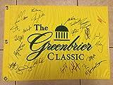 2017 Greenbrier Classic PGA Tour Golf Flag Signed by 24 Golfers Daly, Keegan, Walker, Watney - COA
