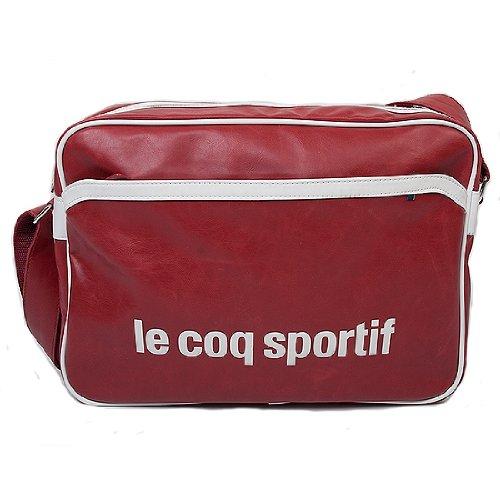 Le Coq Sportif-Zaino Vintage Reporter, colore: rosso, Rosso (rosso), taglia unica