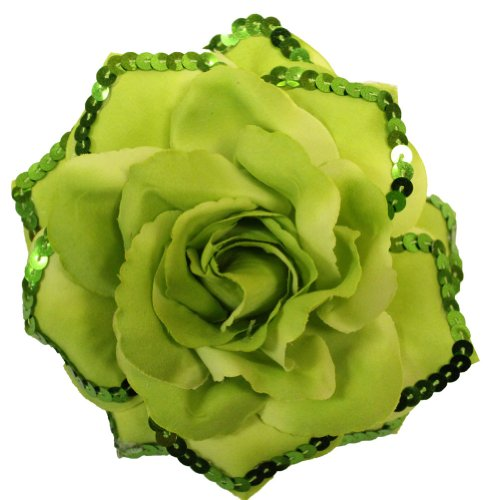 Webb Direct 2U Versatile 3 In 1 Extra Lg Sequin Rose Flw Clip Green (1148) front-64129