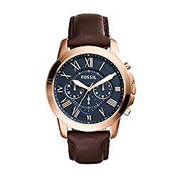 Fossil Grant Analog Blue Dial Mens Watch -FS5068