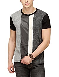 Campus Sutra Men Cross Zip T-Shirt