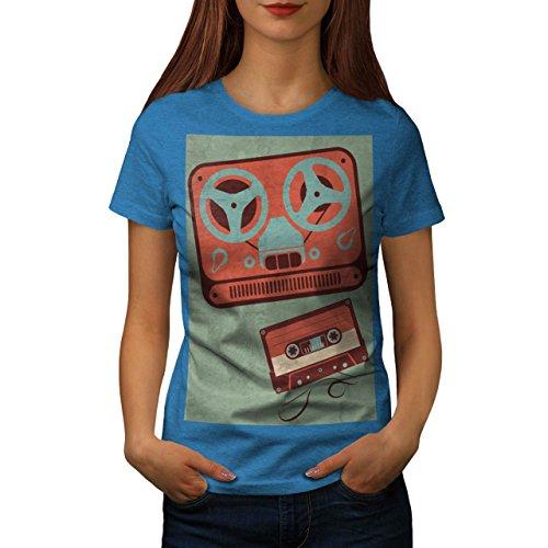 テープ レコーダー 女性 NEW 空色 2XL ティーシャツ | Wellcoda