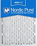 nordic pure 20x25x2m12 3 merv 12 pleated air condition furnace filter box of 3