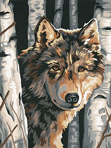 Dimensions Paintworks Paint By Number, Wolf Among Birches