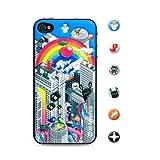 id America iPhone4S,iPhone4用 3D保護シール Cushi Rainbow csi403