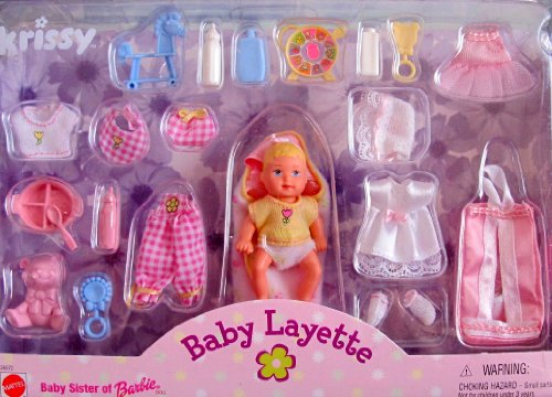 Barbie Krissy Baby Layette Doll & Accessories Set (1999) front-775913