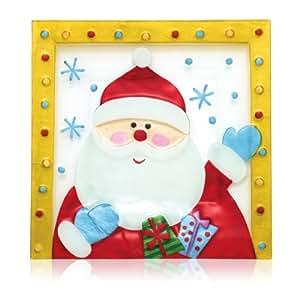 Pfaltzgraff Holiday Happenings Square Glass Platter (Santa)