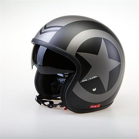 Viper RSV06 Matt Black Star moto casque ouvert