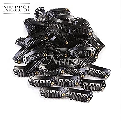 Neitsi® 50pcs U-shape Snap Clips Metal Clips for Hair Extensions DIY Clip-on