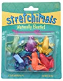Stretchy animals - pack of 6 frogs - assorted colours - great pocket money toy