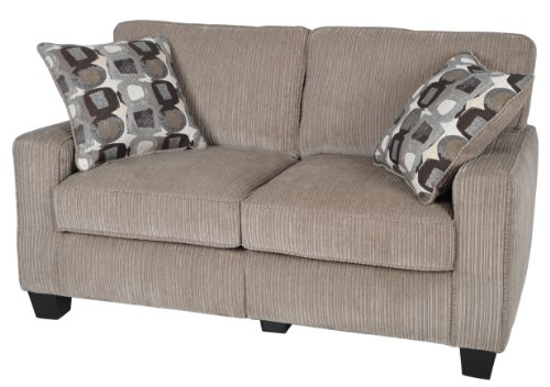 "Serta® RTA Palisades Collection 61"" Loveseat in Flagstone Beige, CR43529PB"