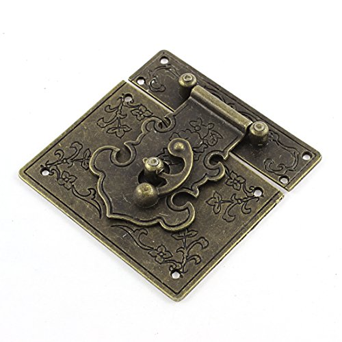 85mmx85mm Retro Style Box Suitcase Decorative Hasp Toggle Latch Buckle