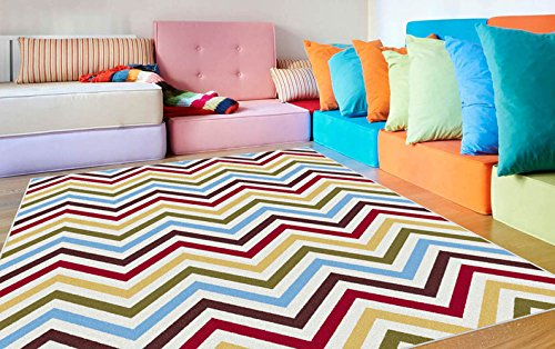 Contemporary Rug in Multicolor (10 ft. 3 in. L x 7 ft. 10 in. W (41 lbs.))