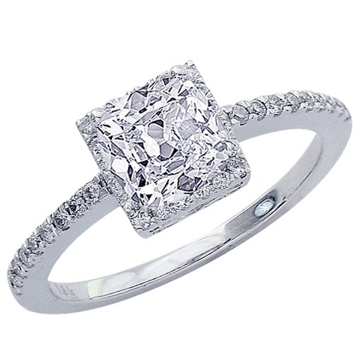 Cushion Cut Diamond Square Cushion Cut Diamond Engagement Rings