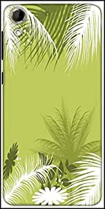 Snoogg Palm Tree With Flower Designer Protective Back Case Cover For HTC Desire 728