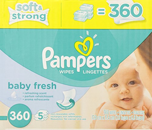 Pampers Baby Wipes Baby Fresh 5X Refill, 360 count - 1