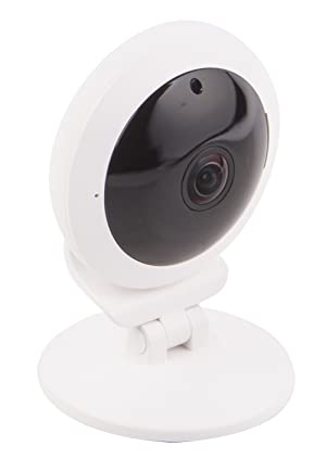 Vivitar IPC117 360 Wide Angle 1080p HD Wi-Fi Smart Home Camera with Motion Detection, Cloud Backup, Night Vision, Child and Pet Monitor, Two-Way Audio, iOS and Android App for Home or Office Use (Color: White)