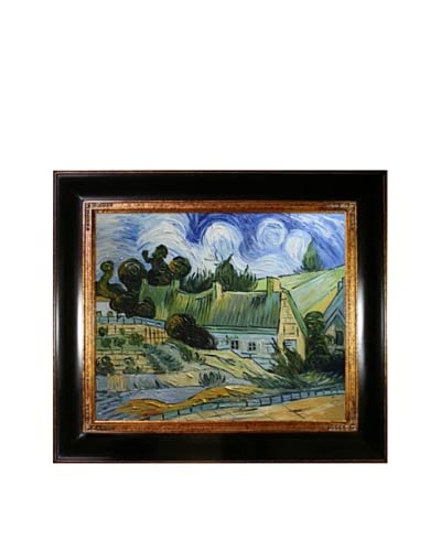 Vincent van Gogh Houses with Thatched Roofs, Cordeville Framed Oil Painting