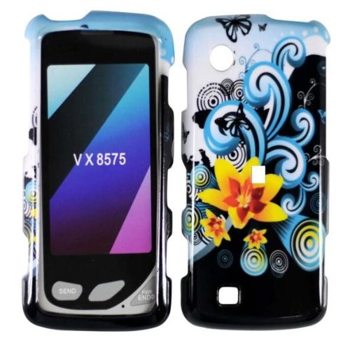 Hard Yellow Flowers Case Cover Faceplate Protector for LG Chocolate Touch VX8575 with Free Gift Reliable Accessory Pen