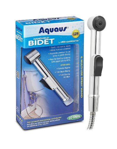 Aquaus Handheld Bidet - The New & Improved Mini-Shower Made In The Usa With Domestic & Global Components front-306960