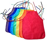 ColorYourLife 7-Pack Non-woven Assorted Colors Childrens Artists Aprons in Retail Packaging