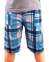 Boys Multi Pocketed Checked Combo Cargo Shorts