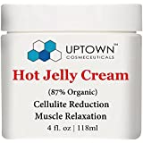 Uptown Cosmeceuticals Anti Cellulite Hot Cream, 4 Fl. Oz, Supple & Toned Skin, Relaxes Tight Muscles