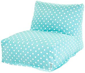 Buy Majestic Home Goods Aquamarine Small Polka Dot Bean Bag Chair Lounger by Majestic Home Goods