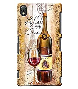 Clarks Wine Inspired Hard Plastic Printed Back Cover/Case For Sony Xperia Z3