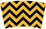 Mugzie® brand Cocktail Shaker with Insulated Wetsuit Cover - Pittsburgh Football Colors Chevron