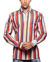 Moksh Men's Striped Casual Shirt V2IMS0414-226 (Medium)