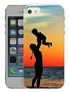 "Mom Boy Beach Printed Designer Mobile Back Cover For ""Apple Iphone SE"" (3D, Matte, Premium Quality Snap On Case)"