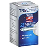 Rite Aid Pharmacy Truetrack Blood Glucose Test Strips, 25 strips