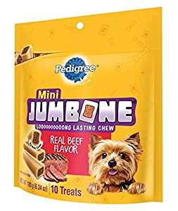 PEDIGREE JUMBONE Mini Bones Mini Snacks for Dogs 6.34 oz. 10 Count (Pack of 12)