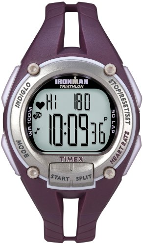 Timex Ironman Road Trainer Heart Rate Monitor Watch, Plum/Silver, Mid Size