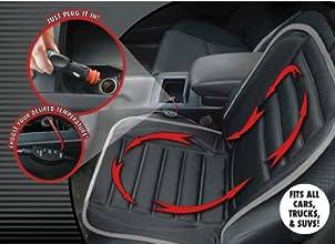 Hot Headz Geared Up Polar Ex Heated Car Cushion Black One Size
