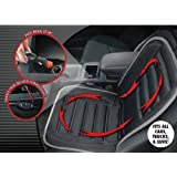 Hot Headz Geared Up Polar Ex Heated Car Cushion, Black, One Size ~ Hot Headz