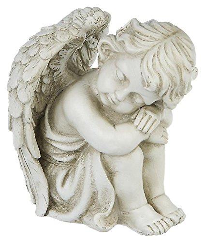 eden engel schlafende engelsfigur gartenfigur cherubin. Black Bedroom Furniture Sets. Home Design Ideas